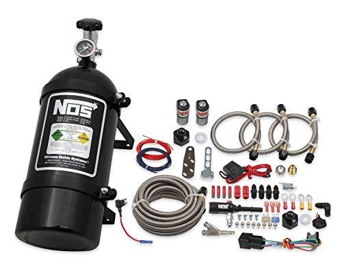 NOS 06016BNOS Single Black Fogger Wet Nitrous Nozzle Kit for Dodge Charger/Challenger/Dakota/Durango/Magnum/Ram/Chrysler 300/Pacifica/Sebring/Town & Country