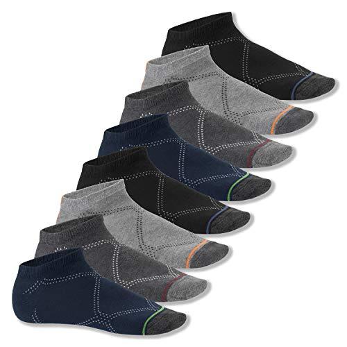 Footstar Herren und Damen Sneaker Socken (8 Paar), Kurze Sportsocken im Neon Erscheinungsbild - Neon Muster 39-42