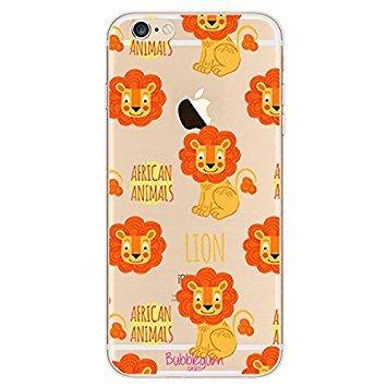 Bubblegum para modelos iPhone colección con diseño de animales–funda gel TPU suave y protectora, Mini Lion, iPhone 5 5s 5se