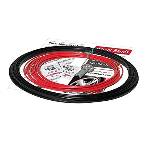 RimPro-Tec 4 x Inserts 4 x Bases protection de jante Réduit les dommages aux roues avec Rim Edge Protector. Convient à la couleur du groupe de roues de 13 \