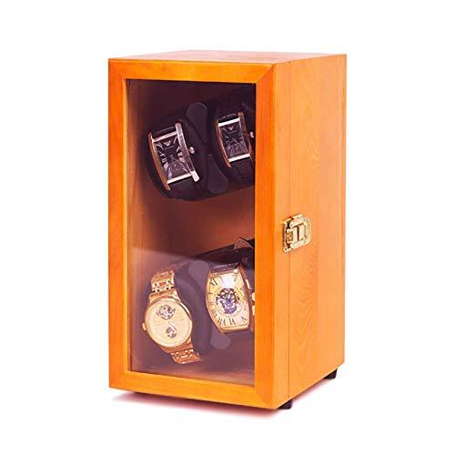 JQCHY Watch Winders - Mini Pine Recargable Watch Winding Box Reloj mecánico automático Colocador Giratorio Agitador de Reloj Vertical Organizador de Caja de Almacenamiento Hogar (Tamaño: 4 Ranuras T