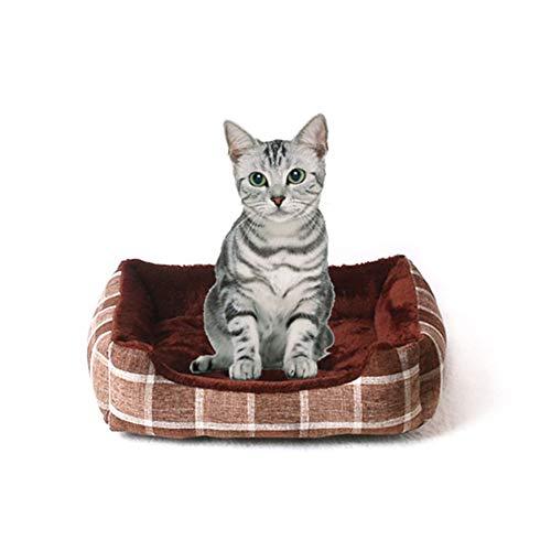 XSARACH hondenhoed, hondenmand voor honden, fluweel voor huisdieren zoals honden en katten, vulling van katoen PP - 6 maten, bruin, 45 x 31 x 10,5 cm