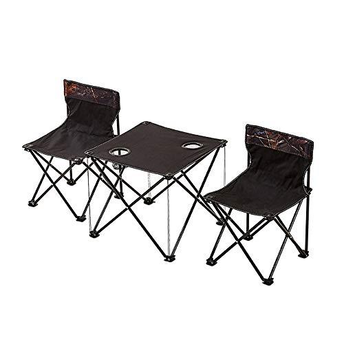 NNDQ Picknick Doppelklapptisch Stuhl, Klappbarer Tragbarer Stativ Sitzhocker, Leichter Stativ Camping Stuhl, Perfekt für Reisen im Freien