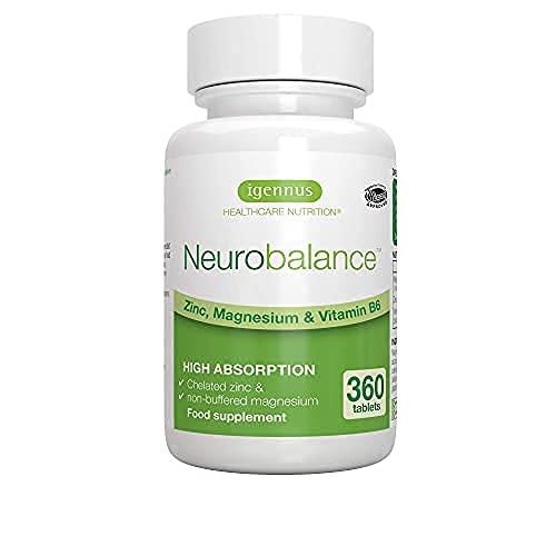 Neurobalance – ZMB6 Tabletten, hochdosiert, mit Zink, Vitamin B6 und Magnesium, vegan, 360 Tabletten