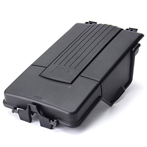 Accesorios para automóviles Funda de Bandeja de batería Tapa para Audi A3 Q3 V W J E T T A A Golf Mk5 Mk6 Passat B6 Asiento Skoda (Color : Black)