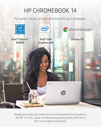 14 inch HP Chromebook Laptop with Intel 2Core Celeron N4000