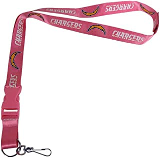 pink chargers lanyard