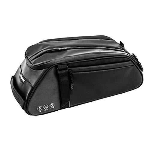 8L Fahrrad Tasche, Abnehmbare Fahrradtasche, wasserdichte Kofferraumtasche Hinten, Mit Verstellbaren Klettbändern, Integrierte Aufbewahrungstasche Mit DREI Aufbewahrungsmöglichkeiten