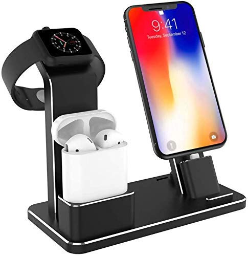 Charging Stand Dock Station for IWatch for AirPods IWatch Series 4/3/2/1/ iPhone X/XS/XS Max/8/8 Plus/7/7Plus/6S/6S Plus