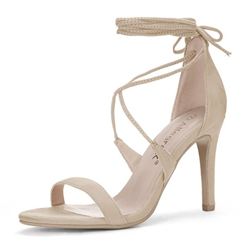 allegra k stilettos Allegra K Women's Stiletto Heel Lace-up Sandals