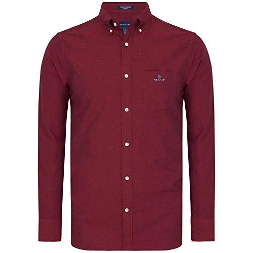 GANT Herren The Beefy Oxford Shirt REG BD Hemd, MAHOGNY RED, S