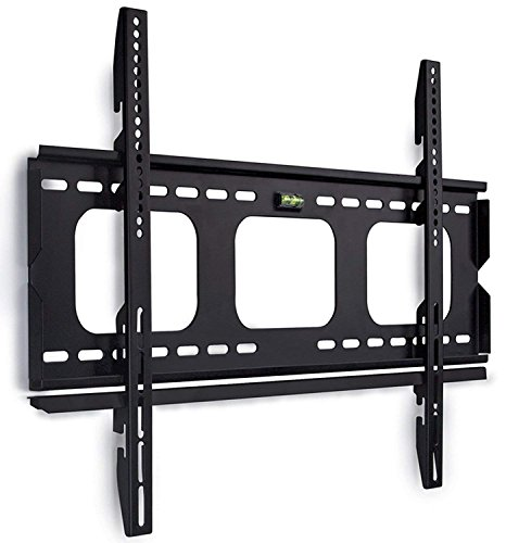 Mount-It! Low-Profile TV Wall Mount 1' Slim Fixed Bracket for 32, 40, 42, 48, 49, 50, 51, 52, 55, 60 inch TVs VESA Compatible up to 600 x 400 Black