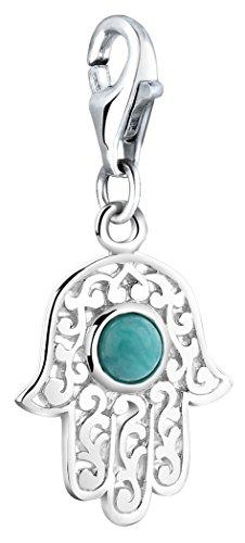 Nenalina Charm Hand der Fatima Anhänger in 925 Sterling Silber für alle gängigen Charmträger 712087-018
