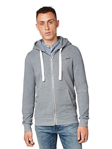 TOM TAILOR Denim Herren Sweatjacke grau L