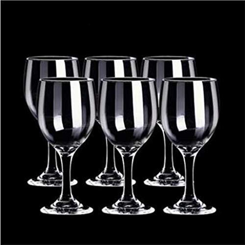 PIANAI Conjunto de Copa de Vino de Vidrio Libre de Plomo/de Vino Copa de Vino/Conjuntos de vinos Regalos/Copas de Vino Tinto/Capacidad: 195 ml,6PCS
