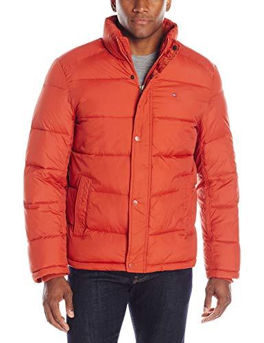 Tommy Hilfiger Men's Classic Puffer Jacket, Burnt Orange, Large