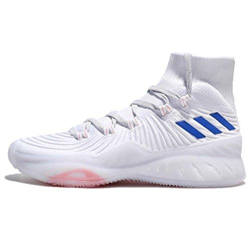 adidas Crazy Explosive 2017 Primeknit, Scarpe da Basket Uomo, Bianco (Ftwwht/Blue/Lgsogr Ftwwht/Blue/Lgsogr), 51 1/3 EU