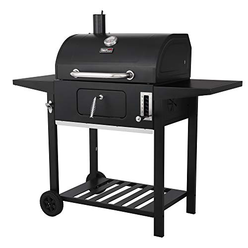 Royal Gourmet CD1824AX 24-Inch Charcoal Grill Outdoor BBQ Smoker Picnic Camping Patio Backyard Cooking, Black