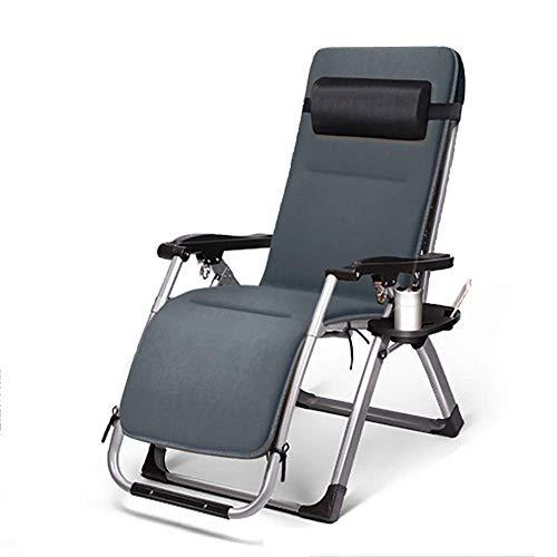 N/A Klappstuhl mit Kopfstütze Tragbare Sonnenliege Balkon Büro Sofa Stuhl für Mittagspause Outdoor Terrasse Strandkorb Abnehmbares Kissen Belastung 200 kg Länge 178 cm (Farbe: B), a