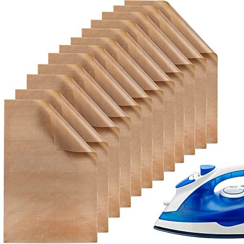 12 Hojas de Prensa de Transferencia de Calor PTFE Hojas de Vinilo Antiadherentes Hojas de Prensa Resistentes al Calor para Transferencia de Calor, 30 x 40 cm/ 11,8 x 15,74 Pulgadas