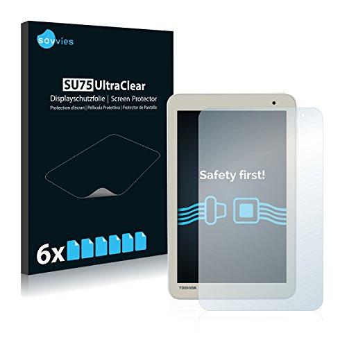 Savvies 6X Schutzfolie kompatibel mit Toshiba Encore 2 8.0 WT8-B Bildschirmschutz-Folie Ultra-transparent