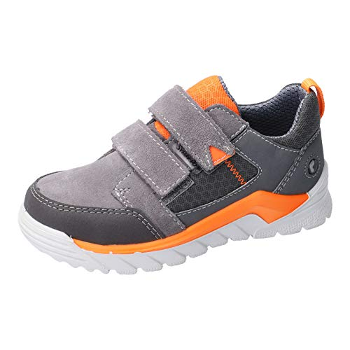 RICOSTA Kinder High-Top Sneaker MARV, Weite: Weit (WMS),wasserfest, sportschuh Klettschuh Sneaker-Stiefel Kids,Graphit/orange,28 EU / 10 Child UK