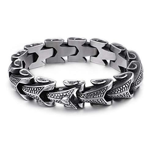 LXDDJsl Herren-Armband, Alternative Persönlichkeit, Titan-Stahl-Schmuck, Edelstahl-Schmuck, Herren-Armband, Edelstahl, Titan-Armband, Armbänder (Größe : 22 cm)