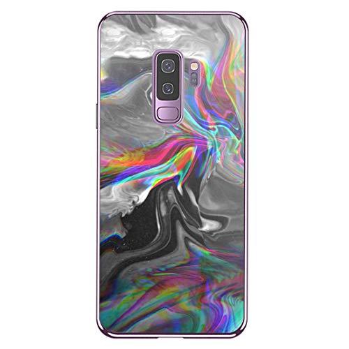 Hülle Compatible with Samsung Galaxy S9 Plus Transparent Ultra Slim Handyhülle TPU Case Stoßdämpfend Bumper Pattern Handytasche Cover für Galaxy S9 schutzhülleülle (12, Galaxy S9 Plus)