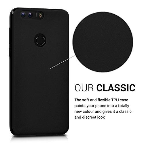 kwmobile Huawei Honor 8 / Honor 8 Premium Hülle - Handyhülle für Huawei Honor 8 / Honor 8 Premium - Handy Case in Schwarz matt - 3