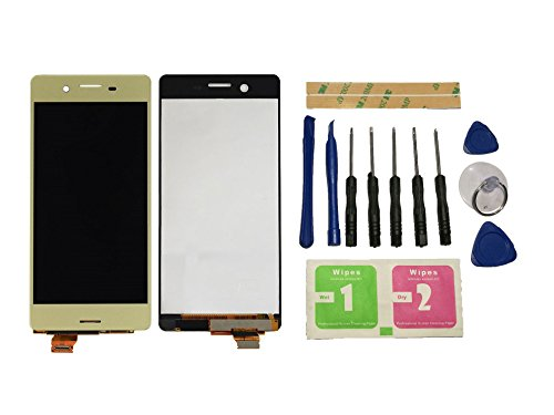 Flügel para Sony Xperia X F5121 F5122 Pantalla LCD pantalla Oro Táctil digitalizador Asamblea Pantalla ( sin marco ) de Recambio & Herramientas