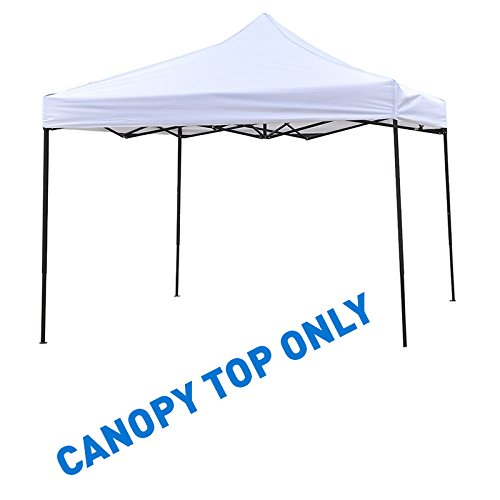 Trademark Innovations 9.6' x 9.6' Square Replacement Canopy Gazebo Top Assorted Colors (White)