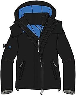 Superdry Men's Tech Hood Pop Zip Windcheater Jacket, Black