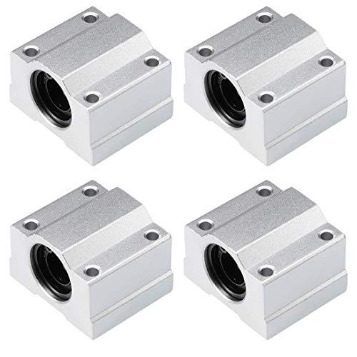 Furiga 3D Printer Slide Block Linear Motion Bearing Ball SCS8UU 8mm Bushing for Anet A8 Prusa i3 4PCS