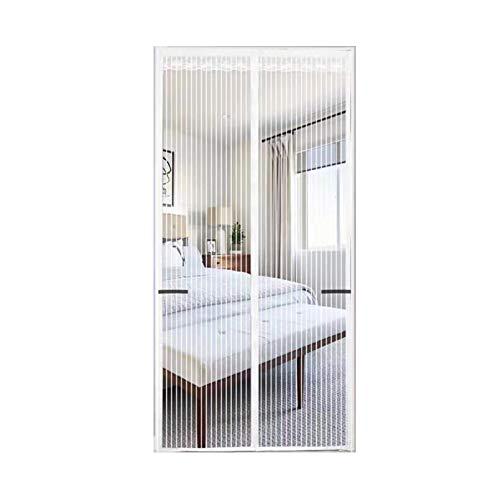 FDesign Magnet Fliegengitter Tür Insektenschutz, Der Magnetvorhang Für Holz, Eisen, Aluminium Türen Und Balkon, Einfache Installation,Weiß,80x210cm