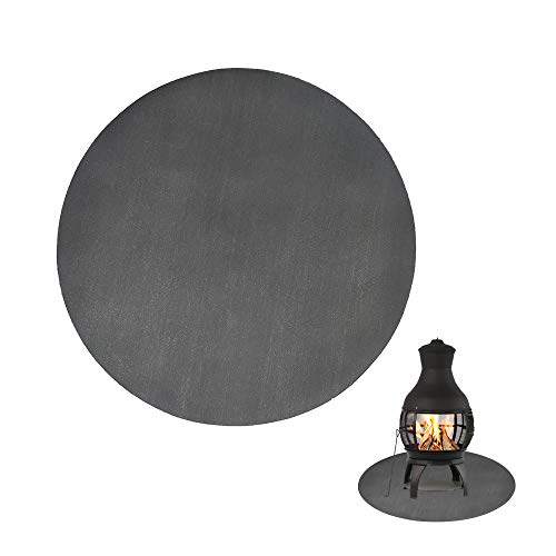 Fireproof Chimineas Mat for Deck,Protection Grill & Patio Fire Pit Pad Hearth Rug, Fireproof Mat, Deck Protector for Wood Burning Fire Pit, Gas Fire Pit, Charcoal Grill (24 Inch)