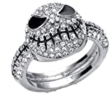 New Horizons Production Nightmare Before Christmas Rhinestone Stainless Steel Finger Ring (7)