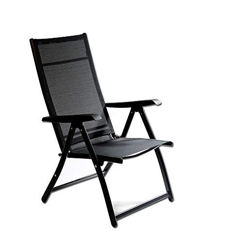 Heavy Duty Durable Adjustable Reclining Folding Chair Outdoor Indoor Garden Pool (1)