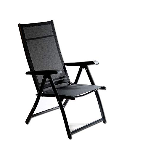 Heavy Duty Durable Adjustable Reclining Folding Chair Outdoor Indoor Garden Pool (1)