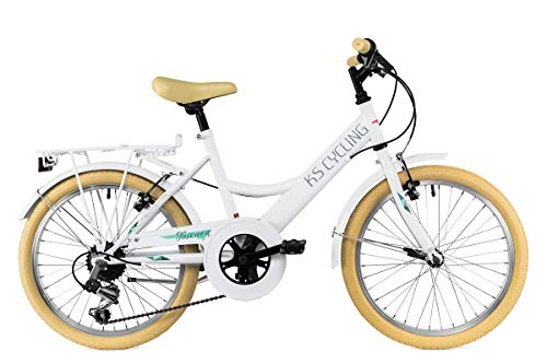 KS Cycling Kinderfahrrad 20\'\' Toscana weiß 6 Gänge RH 36 cm