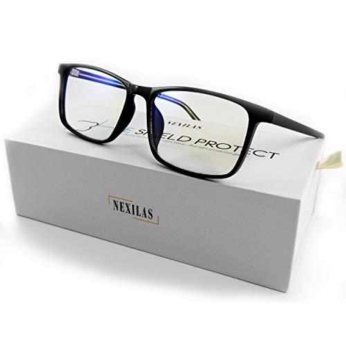 Nexilas - Lunettes Anti Lumière Bleue Ecran (Ordinateur, PC, TV) - Sans correction - Lunette Anti Lumiere Bleue Repos Filtre Protection UV Transparent - Homme et Femme - Blue Light Blocking Glasses