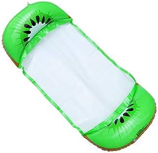 Wakauto Hamaca Piscina Flotante,Hamaca Flotante Inflable Piscina Colchón Hinchable 4 en 1 para Piscina Playa Mar,Hamaca de Agua Flotante para Adultos (Verde)