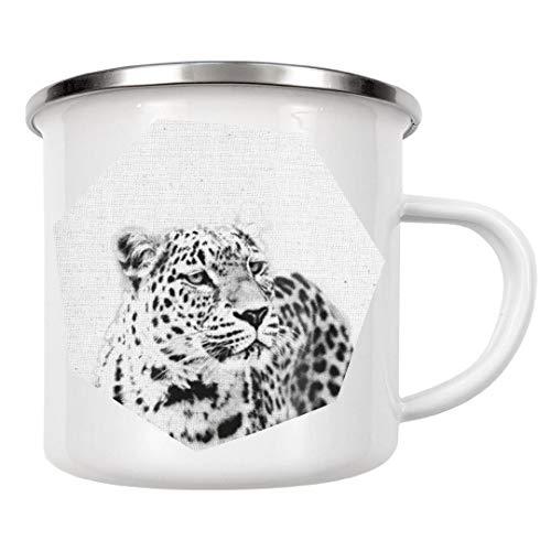 artboxONE Emaille Tasse Leopard 03