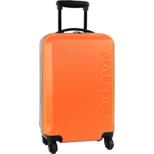 Nautica Ahoy Hardside Expandable 4-Wheeled Luggage, Orange/Silver