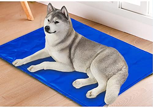 MILIWAN Tappetino Rinfrescante per Cani 60 * 90cm Tappeto per Animali in Gel Autorinfrescante Non tossico, Pad di Raffreddamento per Cani, Gatti e Animali Domestici