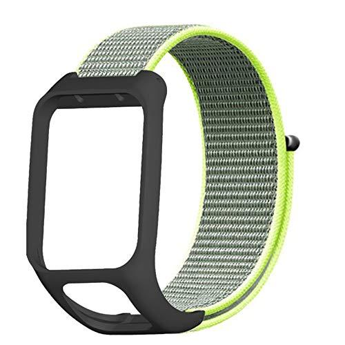 Voghtic Cinturino in tela compatibile con TOMTOM Runner3 e TOMTOM Adventurer, cinturino in nylon a sgancio rapido, per uomini e donne
