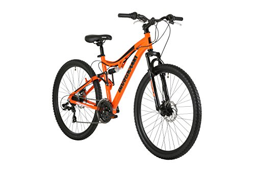 Barracuda Unisex Draco Ds Wheel 18 Inch Full Suspension Frame Mountain Bike, Orange, 27.5 Inch