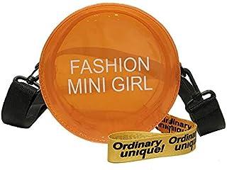 Adebie - Transparent Women Crossbody Bag Female Round Jelly Messenger Bag Summer 2019 Simple Clear Cute Small Square Circular Fashion Bag Orange []