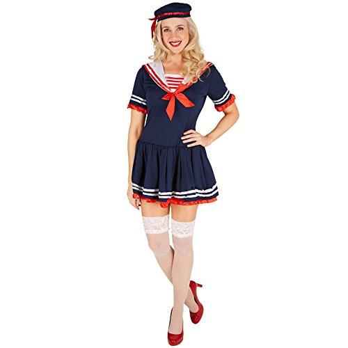 TecTake dressforfun Disfraz de Marinera para Mujer | Vestido Muy Dulce | Look Marinero Muy | Incl. Sombrero (XXL | no. 301428)