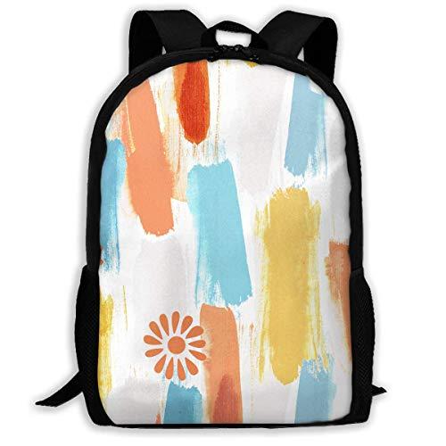 Oil Painting Streaks Of Sunlight In Color Printed School Backpack Water Resistant Travel Rucksack Bag Laptop Lightweight Backpack Daypack,17' Zaino scuola