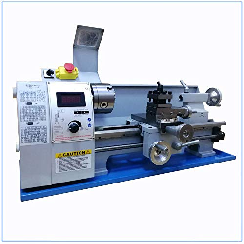 Buy Discount QWERTOUY Metal Lathe Bench Variable Speed 8 X 16 750W Top Digital for Wood Working
